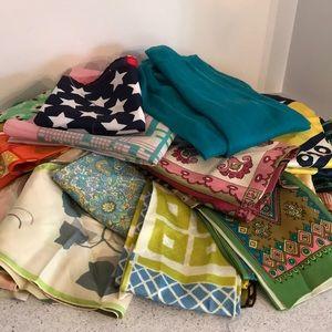 Box of 30 vintage scarves ties dickies all sizes